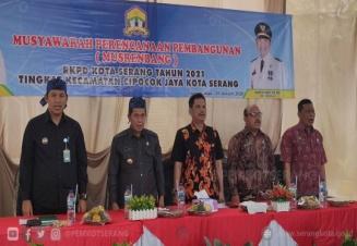 Musyawarah Perencanaan Pembangunan Musrenbang Tingkat Kecamatan Cipocok Jaya